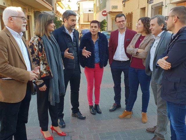 López con Ivar y alcaldes de Santomera, Abanilla, Fortuna y Beniel