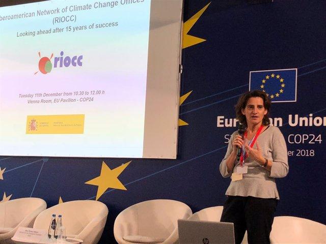 La ministra Teresa Ribera celebra el 15º de la RIOCCC en la Cumbre del Clima