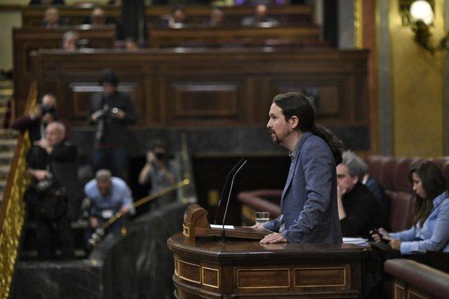 Pedro Sánchez comparece en el Congreso para informar de la situación en Cataluña