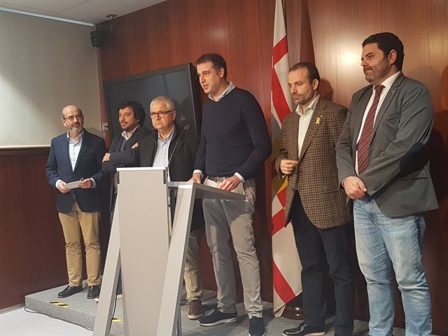 J.Mulleras, D..Mòdol, P.Chias, R.Pallarols. R.Blasi y P.Sierra