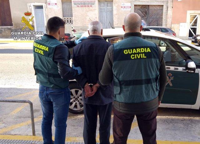 Imagen de uno de los detenidos en la operación