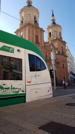 Tranvía de la Bahía de Cádiz en San Fernando