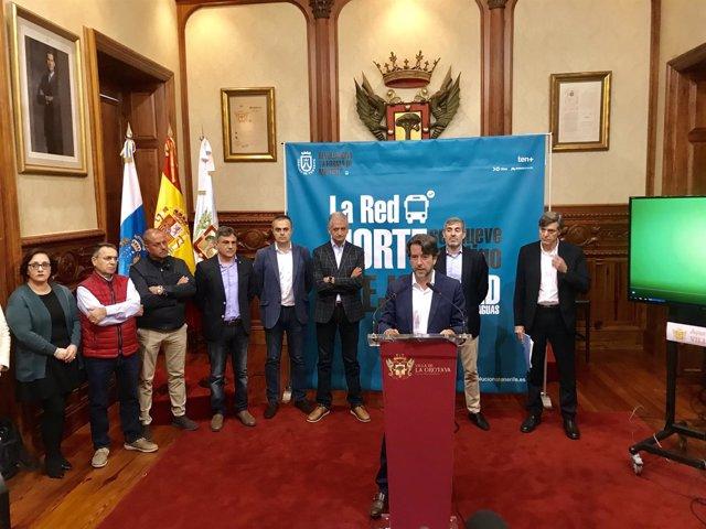 Rueda de prensa en el Ayuntamiento de La Orotava