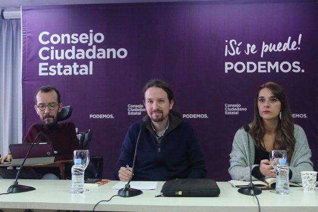 Reunión del Consejo Ciudadanos Estatal de Podemos