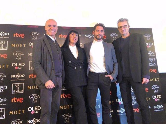 El concejal Antonio Muñoz en el anuncio de candidaturas a los Goya