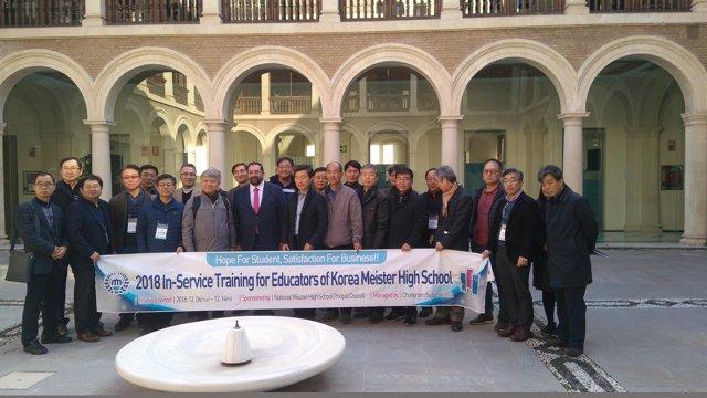 Una comitiva de Corea del Sur conoce el sistema andaluz de FP