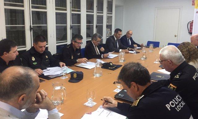 Reunión sobre el dispositivo de seguridad para el Sevilla-Krasnodar