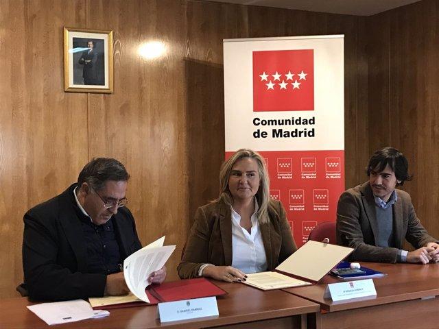 La consejera de Transportes de la Comunidad, Rosalía Gonzalo