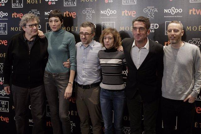 Lectura de nominados a la 33 edición de los Premios Goya