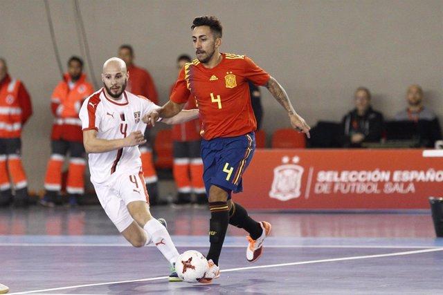 Selección española fútbol sala España Serbia