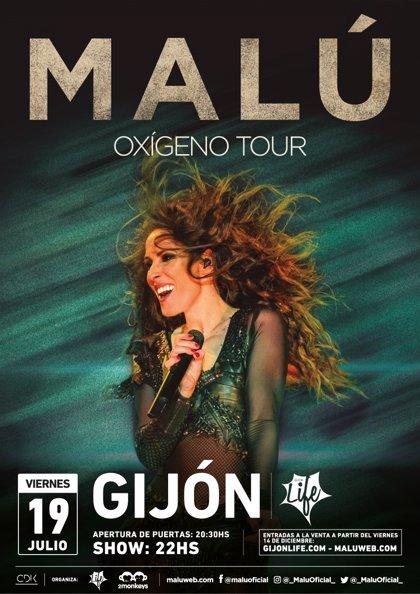 Malú actuará el 19 de julio en el 'Gijón Life'