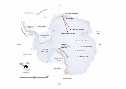 La expedición del trineo de viento llega al hielo de la Antártida con temperaturas de -6ºC, sol y sin viento