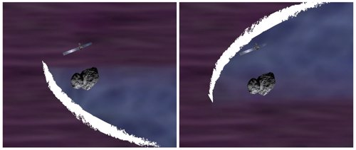 Impresión artística del arco de choque captado por la misión ESA.
