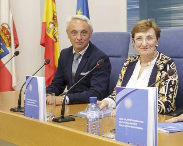 Alejandro Rojo y Luisa Real en una rueda de prensa (Archivo)