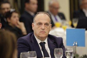 """Tebas: """"El Reial Madrid té un model de lliga amb el qual no coincideixen el 90% dels clubs de LaLiga"""" (EUROPA PRESS - Archivo)"""
