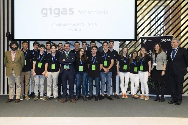 Ganadores de la primera edición de Gigas for Schools