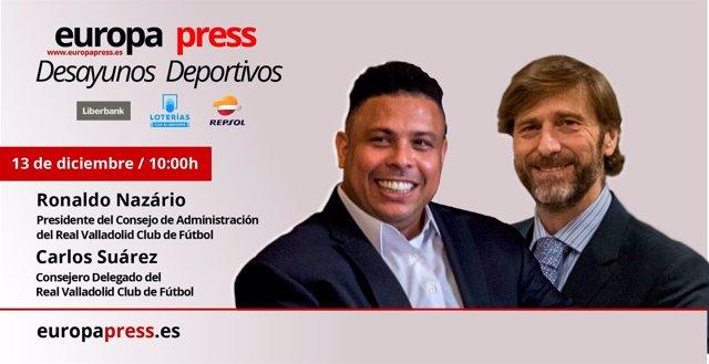 Careta del Desayuno Deportivo de Ronaldo Nazario y Carlos Suárez