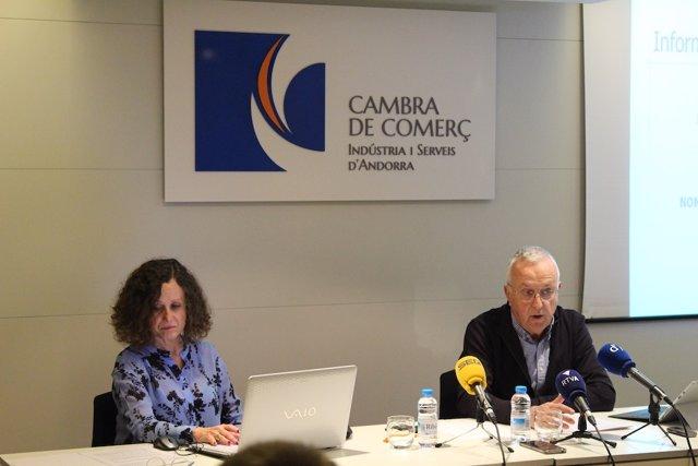 Pilar Escaler y Miquel Armengol (dtora. Y pte. De la Cambra d'Andorra)