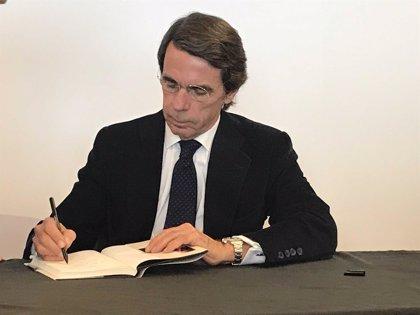 """Aznar critica que el """"golpe de Estado"""" catalán """"no se ha resuelto"""" e insta a """"restablecer la legalidad"""" en la comunidad"""