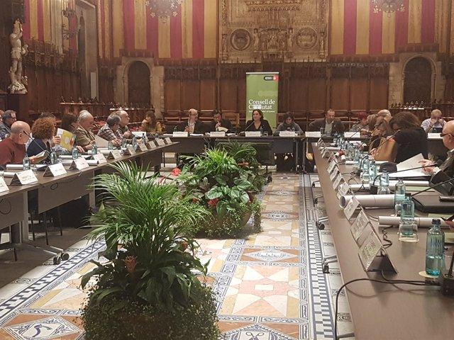 Pleno del Consell de Ciutat de Barcelona con Ada Colau