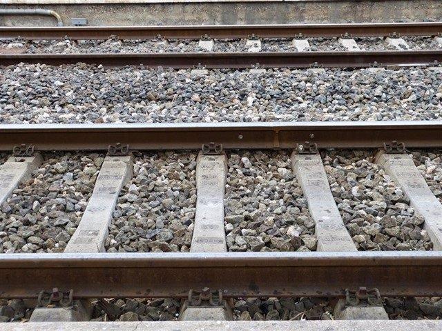 Imagen de archivo de unas vías de tren