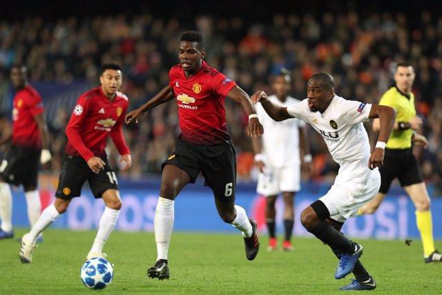 FOOTBALL - UEFA CHAMPIONS LEAGUE - VALENCIA v MANCHESTER UNITED