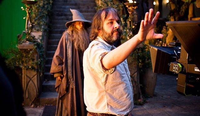 Peter Jackson e Ian McKellen en El Hobbit: Un viaje inesperado