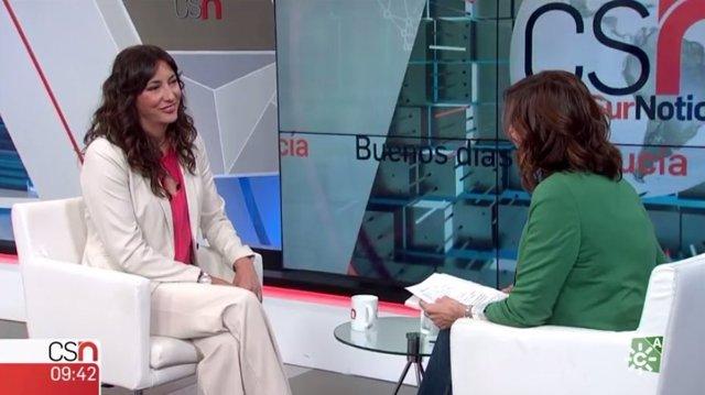 Loles López, en una entrevista en Canal Sur Televisión