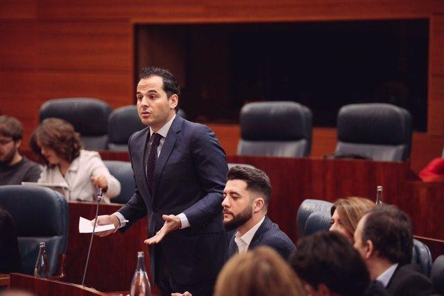 El portavoz de Cs en la Asamblea de Madrid, Ignacio Aguado