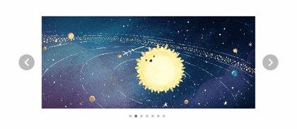 Google decida su 'doodle' a la lluvia de estrellas de las Gemínidas 2018