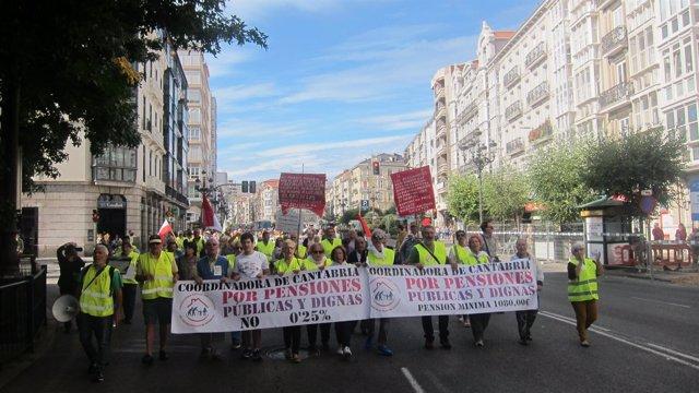 Manifestación por Santander de la Coordinadora en defensa de las pensiones