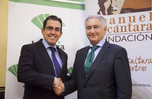 Sergio corral fundación unicaja y antonio pedraza fundación manuel alcántara