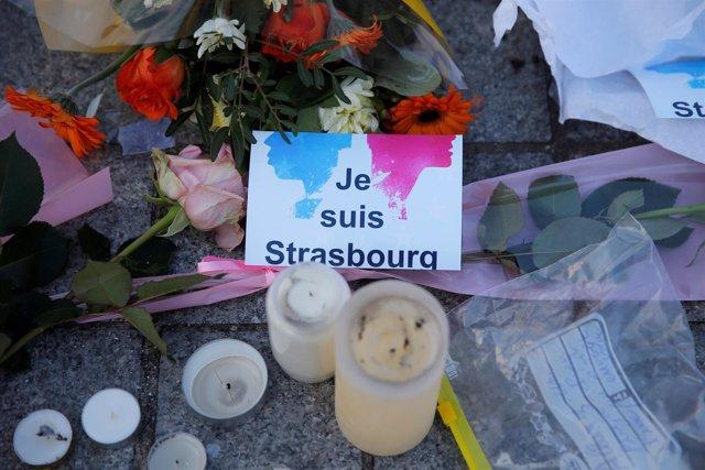 Homenaje a las víctimas del atentado de Estrasburgo