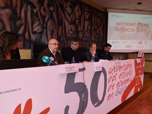 Presentación del informe del grupo GEM sobre emprendimiento en Galicia