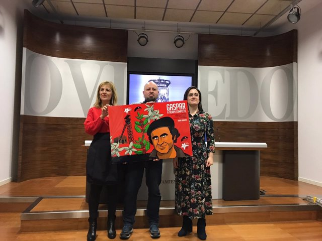 Ruma Barbero, Marisa Ponga y Ana Rodríguez en la presentación del cómic