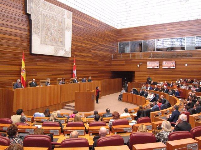 Acto de la ONCE en las Cortes de Castilla y León