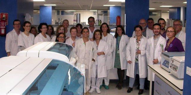 Profesionales del Laboratorio del Hospital Virgen de Valme