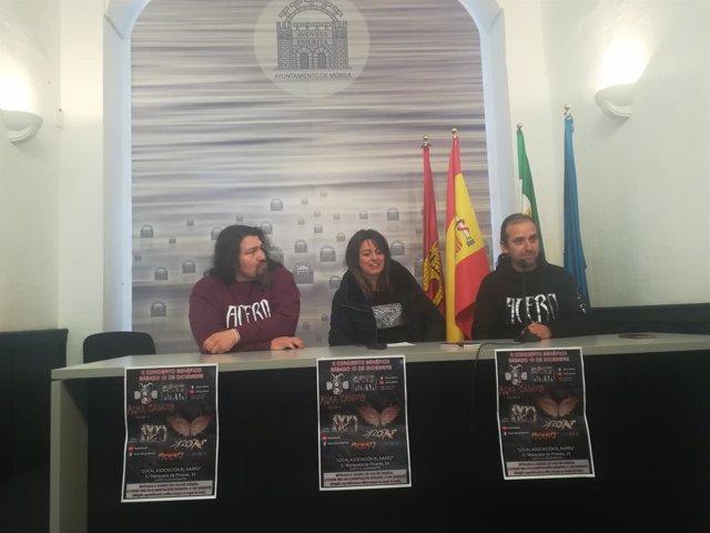 Imagen de la presentación del concierto benéfico en Mérida