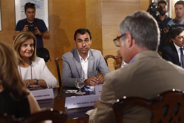 Maillo y Fátima Báñez en la reunión del PP con Ciudadanos