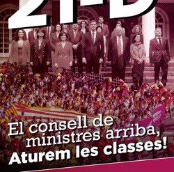 Universitats per la República fa una crida a aturar les classes durant el Consell de Ministres del 21D (UNIVERSITATS PER LA REPÚBLICA)