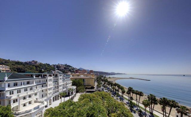 Gran Hotel miramar cinco estrellas grna lujo málaga turismo turistas mar playa s