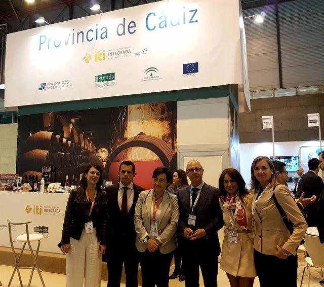Stand de la provincia de Cádiz en el Salón de Gourmets