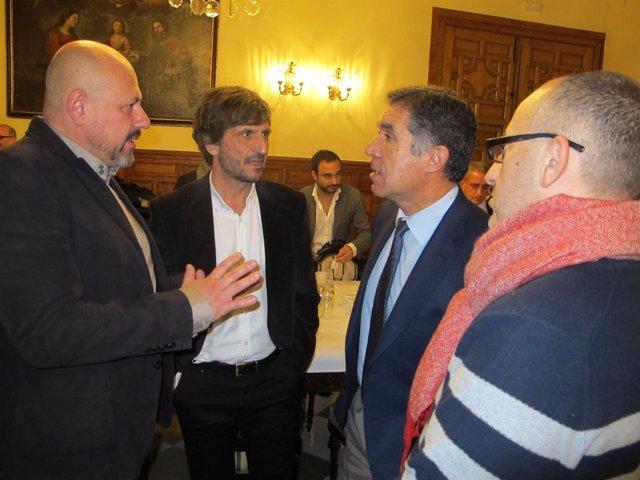 El presidente del TSJA con periodistas