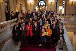 Torra, Torrent i diversos diputats independentistes demanen la llibertat de Forcadell al Parlament (EUROPA PRESS)