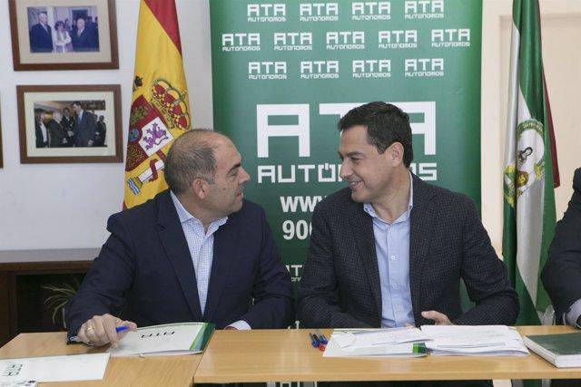 El presidente del PP-A y candidato a la Presidencia de la Junta, Juanma Moreno,