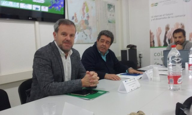 Algar (izda.), en la presentación del proyecto