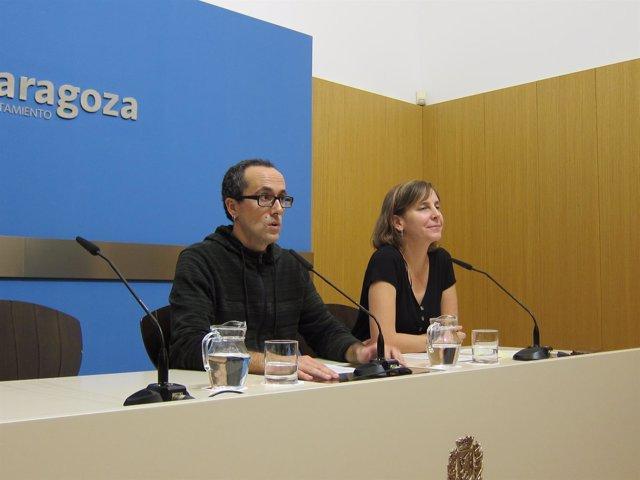 Alberto Cubero y Teresa Artigas, del Ayuntamiento de Zaragoza