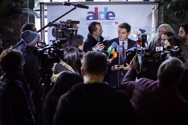 Albert Rivera, en Bruselas
