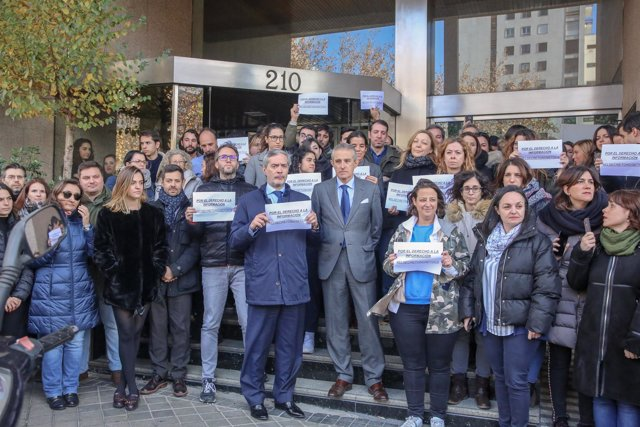 Concentración en Europa Press Madrid en apoyo a la Delegación de Baleares tras l