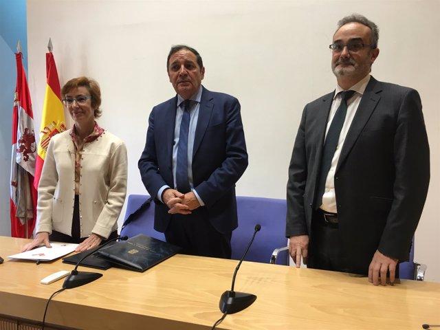 Valladolid.- Bieger, Sáez Aguado y Sánchez Herrero